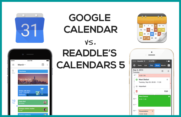 The Best Calendar App for Your Money: Google vs. Readdle