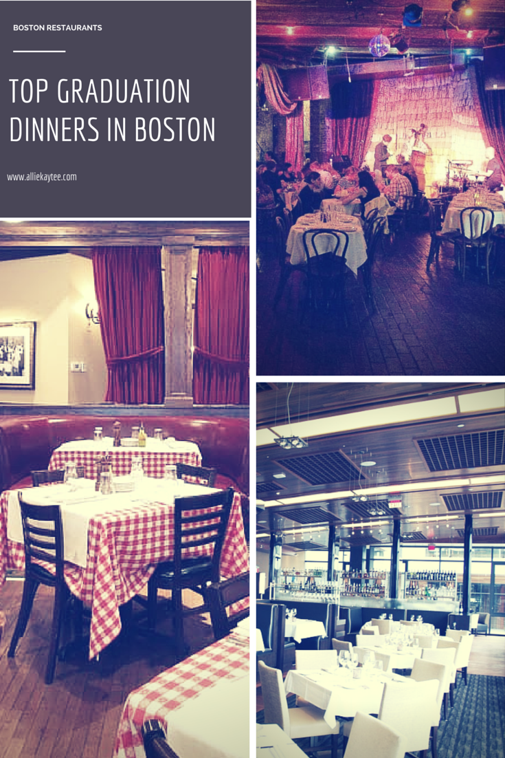 3 Top Restaurants for Graduation Dinner in Boston
