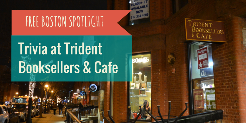 Free Things to Do in Boston: Trivia at Trident Booksellers